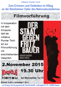Einladung der Staat gegen Fritz Bauer