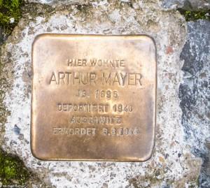 Stolperstein für Arthur Mayer